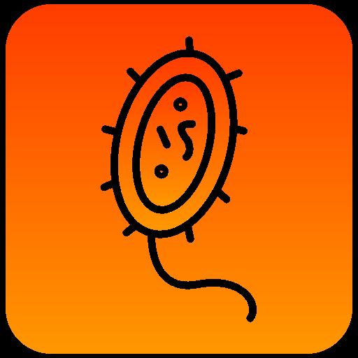 bacteria, scientific icon