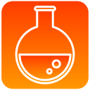 flasks, scientific, tube icon