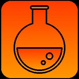 flasks, scientific, tube icon