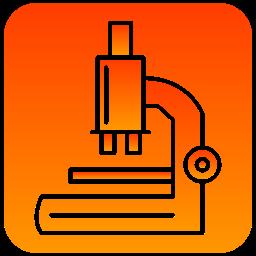 microscope, scientific icon
