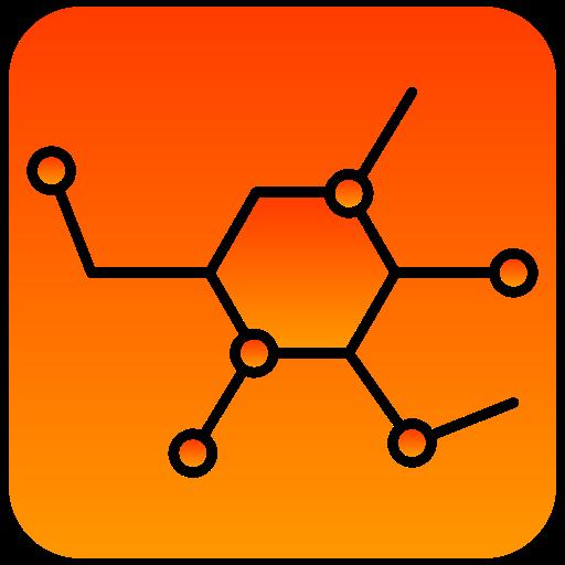 molecular, scientific icon