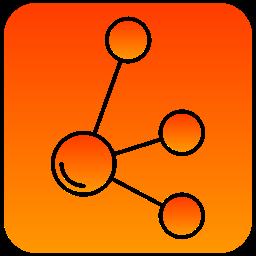 molecule, scientific icon