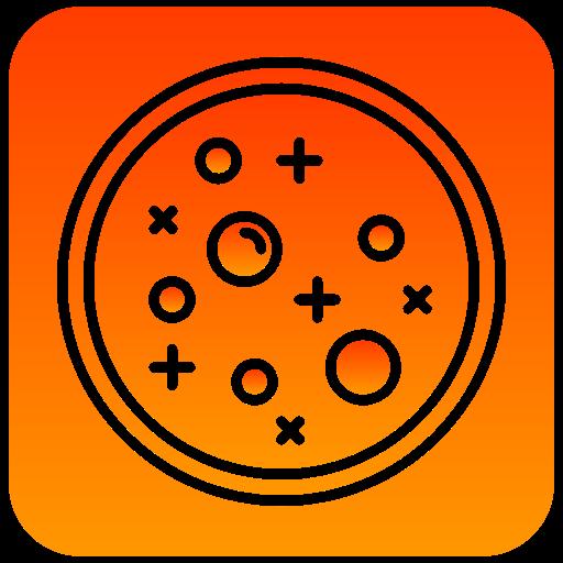 dish, petri, scientific icon
