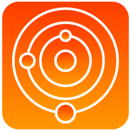 scientific, solar, system icon