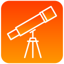 scientific, telescope, view icon