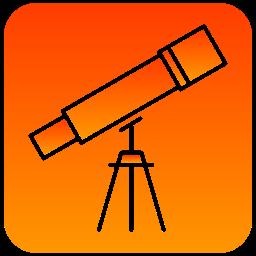 scientific, telescope, view icon