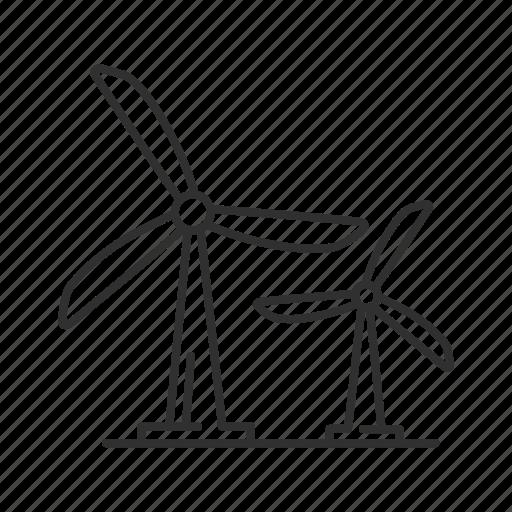 instrument, mill, modern windmill, propeller, wind electricity, windmill, windmill instrument icon