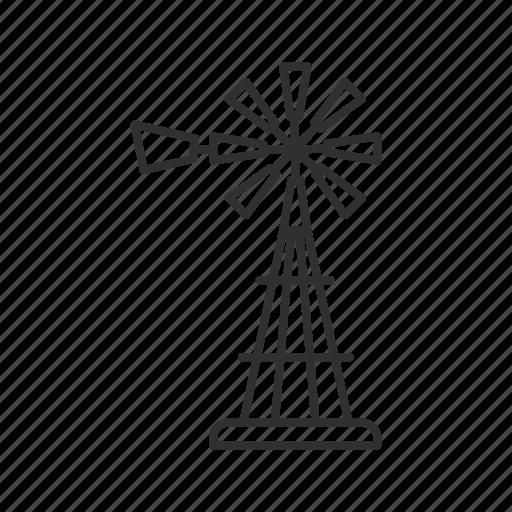 farm, farm windmill, mill, propeller, wind instrument, windmill, windmill instrument icon