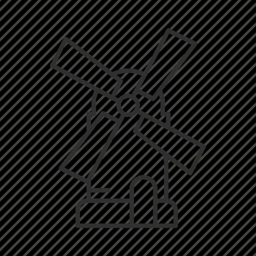 dutch, dutch windmill, mill, propeller, wind, windmill, windmill instrument icon