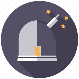 astronomy, observatory, research, science, space, stars, telescope icon