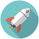 engineering, future, research, rocket, science, spaceship, technology icon