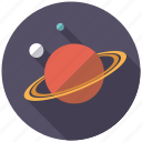 astronomy, orbit, planet, research, saturn, science, space icon