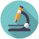 biology, equipment, laboratory, microscope, research, science icon