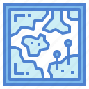 location, map, pin, route icon