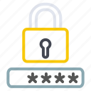 lock, password, protection, secure, security icon