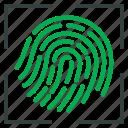 fingerlock, fingerprint, lock, proof icon