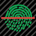 fingerlock, fingerprint, look, proof, safe icon