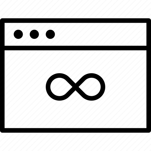 browser, computer, eternity, infinity icon