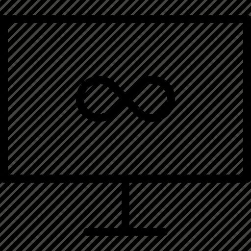 computer, eternity, infinity, screen icon