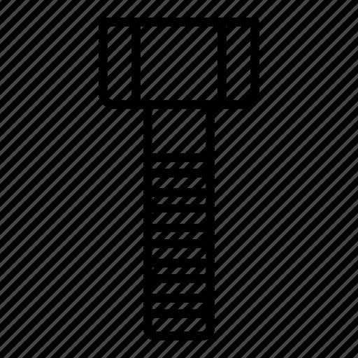 Bolt Screw Business Steel Build Badge Nut Icon