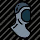 diving, hood, wetsuit, scuba, gear