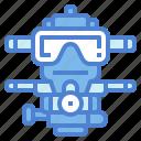 scuba, mask, diving, gear