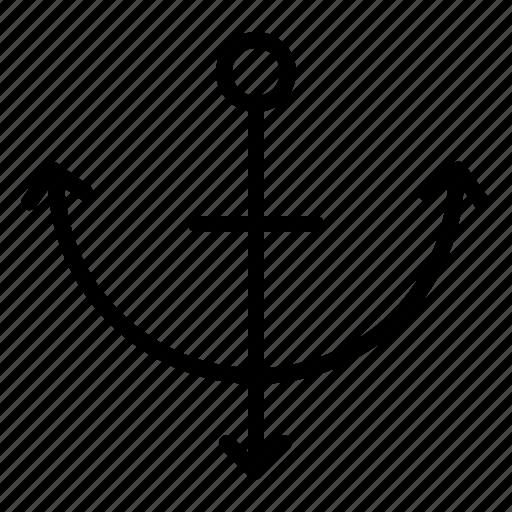 anchor, beach, sea, summer icon
