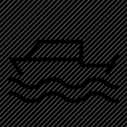 beach, boat, sea, summer, vehicle icon