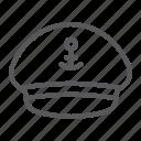 captain, hat, cap, uniform, anchor, cruise, boat