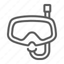 diving, dive, mask, scuba, glasses, ocean, underwater