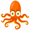 clover octopus, fish, multi legs sea animal, octopus, sea animal icon