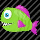 deep water fish, grammicolepis brachiusculus, sea animal, thorny fish, tineselfish icon