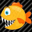 aquarium fish, fancy goldfish, freshwater fish, goldfish, ryukin goldfish icon