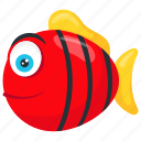 pet fish, red tiger barb, sumatra barb, tiger barb, tropical fish icon