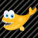 fish, ogon, tropical fish, yellow cartoon fish, yellow koi fish icon