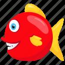 characidae, floodplain fish, piranha, red-bellied piranha, tropical fish icon