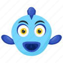 huge head fish, lumpsucker, marine animal, scorpaeniformes, tropical fish icon