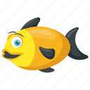 anemone fish, clown fish, marine anemonefish, pomacentridae, yellow and black fish icon