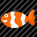 anemonefish, clownfish, ocellaris, sea animal, snowflake fish icon