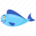 blue goldfish, blue oranda, goldfish, rare goldfish, sea animal icon