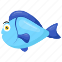 blue parrotfish, parrotfish, scarus, sea animal, surf parrot fish icon