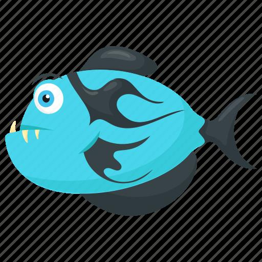 blue tigerfish, cartoon tiger fish, goliath tigerfish, tigerfish, wild sea animal icon