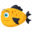 edible fish, fish, sea bass, shallow water fish, tropical fish icon