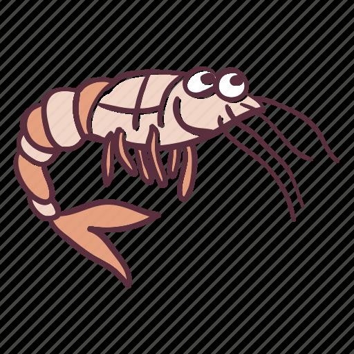 animal, ocean, sea, shrimp, water icon