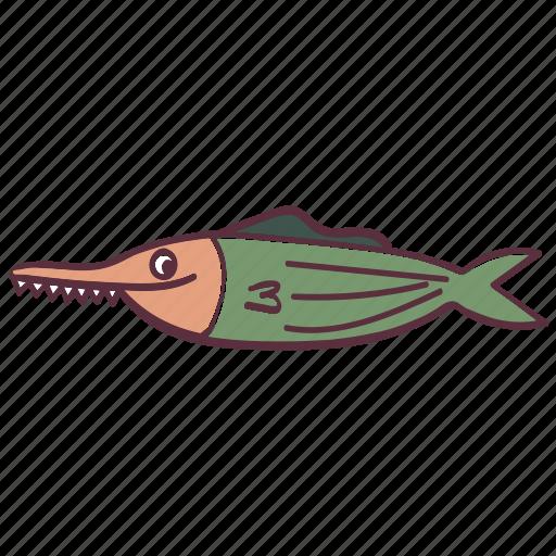 fish, funny, ocean, saw, sea icon