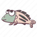 animal, cute, fat, fish, sea icon