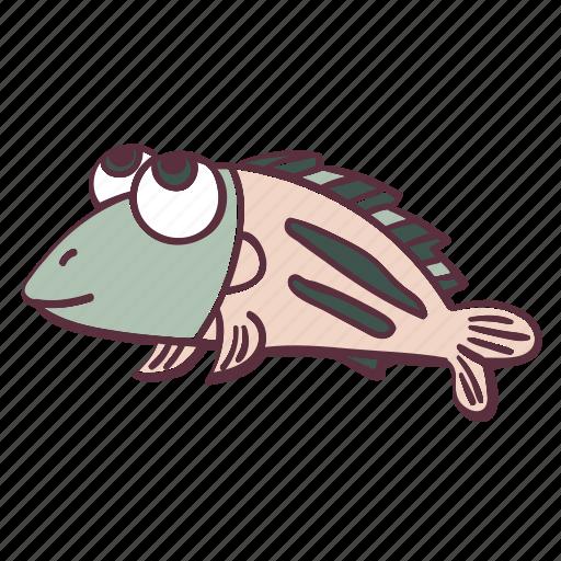 animal, cute, fat, fish, sea icon