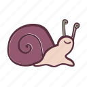 animal, sea, smiling, snail, water icon