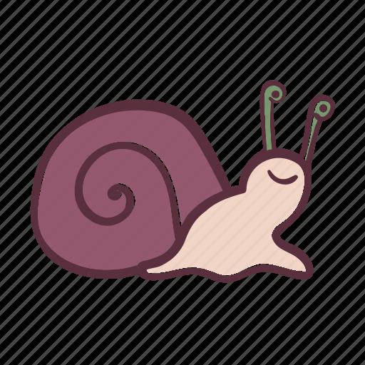 animal, sea, smiling, snail, water icon