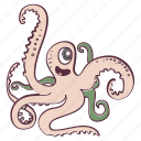 animal, ocean, octopus, pink, sea